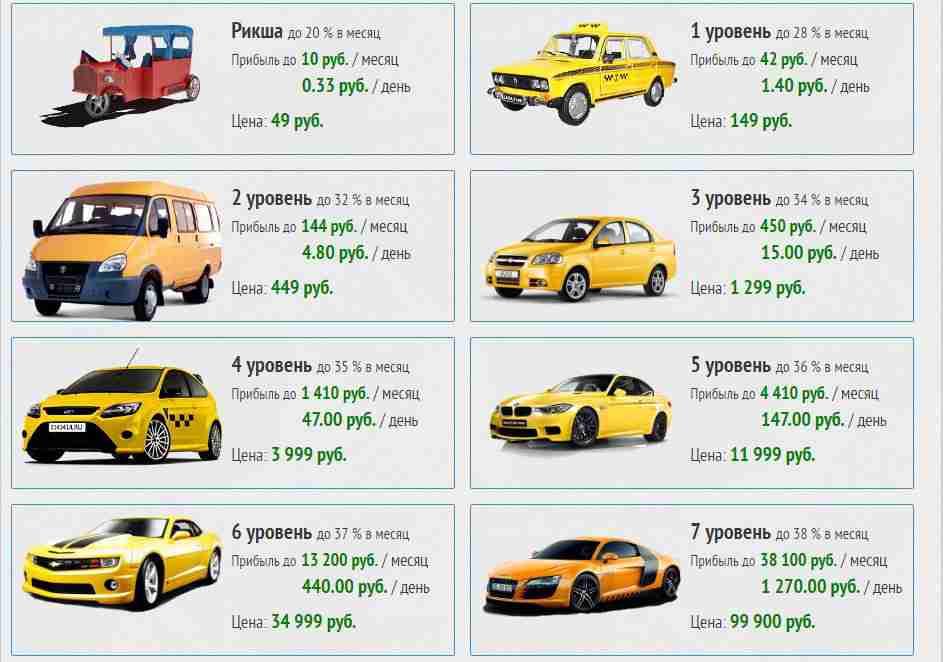 игра такси для заработка денег