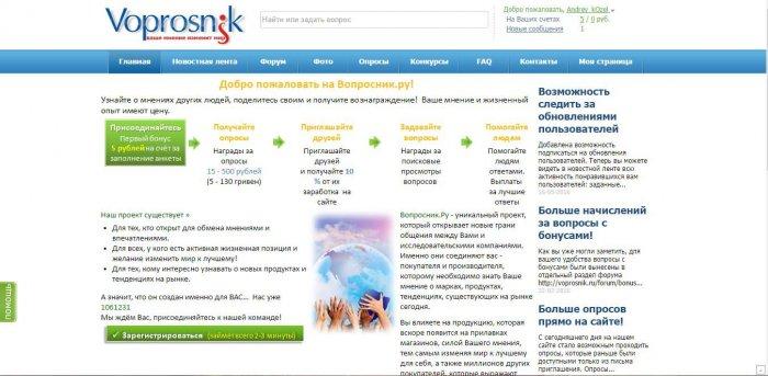 Сайты для заработка на поросах Voprosnik