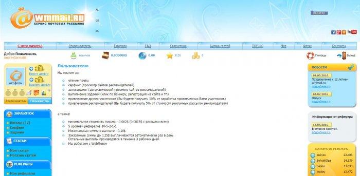 Сайт для заработка на кликах по рекламе wmmail