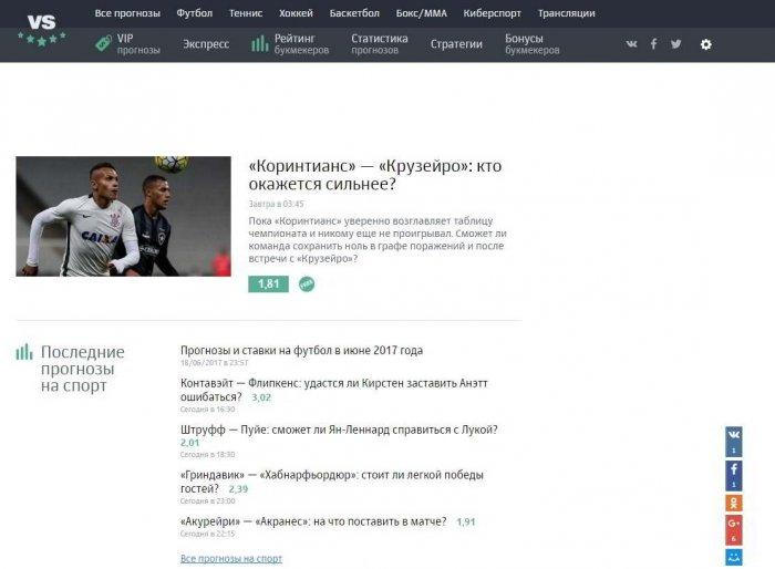 Сайт Vseprosport