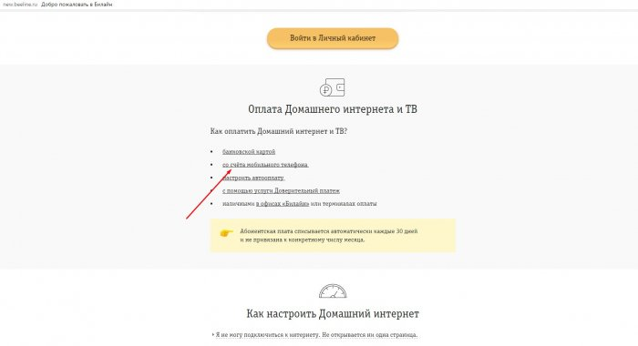 Перевести деньги с Билайна на Билайн через интернет