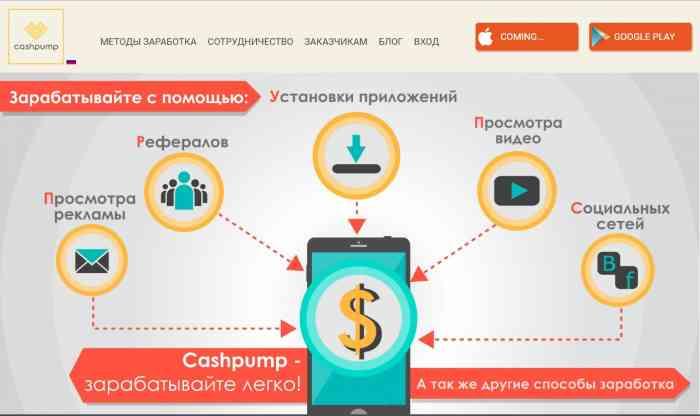 Приложение – CashPump