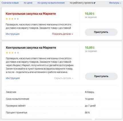 Закупка на Яндекс.Маркете