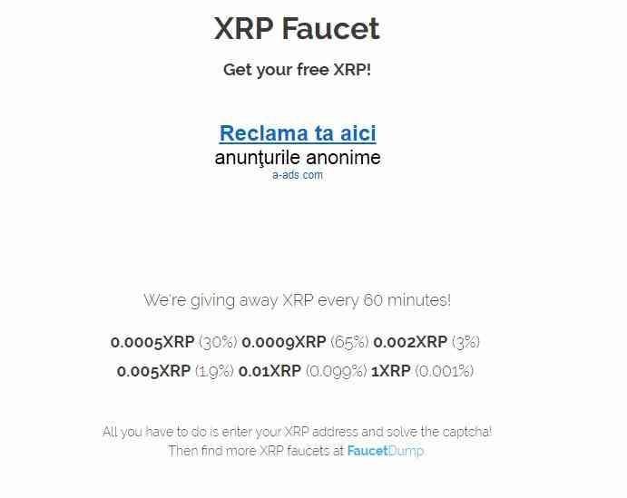 Сайт Xrpfaucet