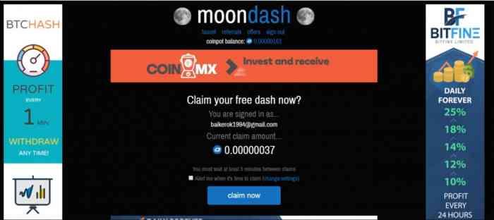 Moon Dash представляет собой «накопительный» кран
