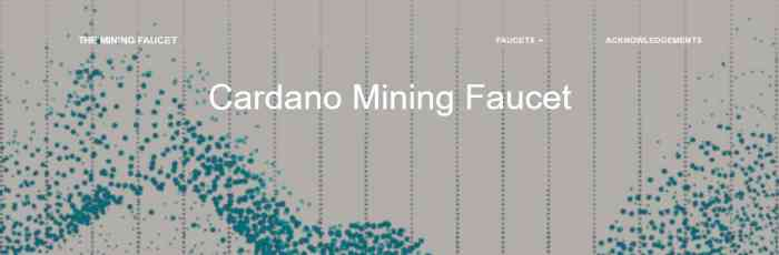 Mining Faucet